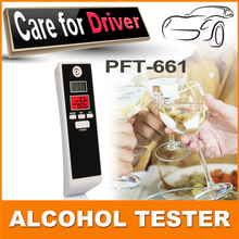 high quality & precision drive safety digital alcohol tester/breathalyzer with led dual display pft/661