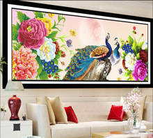 DIY 5D Diamond Painting Cross stitch Peacock Needlework Diamond Embroidery swan Pattern Hobbies and Crafts Home Decor Gifts(China)