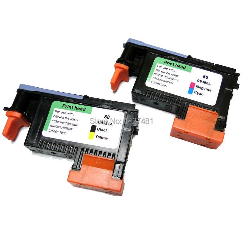 2 PCS for hp 88 printhead for hp Officejet Pro K550 K550dtn K550dtwn K5400dn K8600 L7580 L7590 printer<br><br>Aliexpress