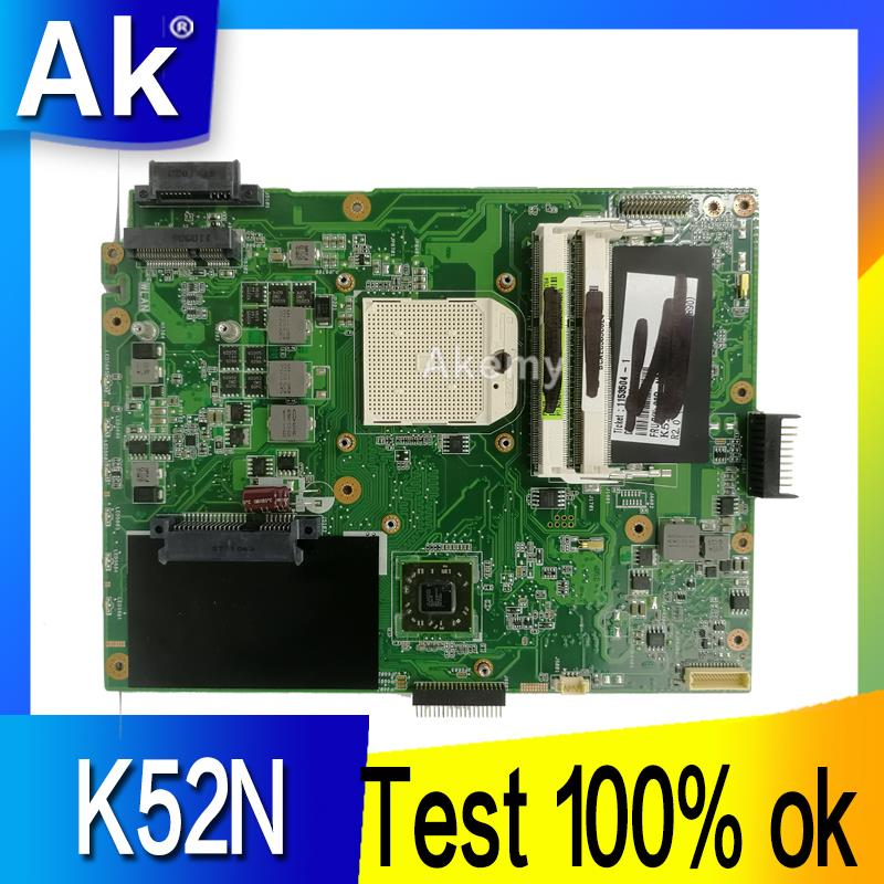 AK K52N Laptop motherboard for ASUS K52N K52 X52N A52N Test original mainboard