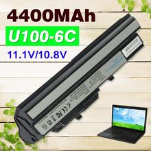 4400mAh Black Laptop Battery for Msi Wind U90 U100 U210 U230 BTY-S11 BTY-S12 3715A-MS6837D1 6317A-RTL8187SE TX2-RTL8187S