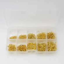 500pcs/set mixed size #3~12 high carbon steel carp fishing hooks pack with hole with Retail Original box Jigging Bait