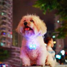 Free Shipping Hotsale LED Light Dog Flashing Clip On Collar Led Light Charm Id Tag Flash Or Glow Modes