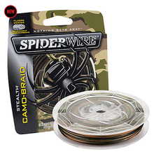 SpiderWire Brand Stealth Series Camo Color 8 Strand 114M 125YD PE Braided Fishing Line Microfiber Color-Lock Multifilament Wire(China)
