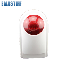 Free shipping outdoor strobe siren for WIFI gsm home alarm system,waterproof flash siren wireless defense zone For G90B System(China)
