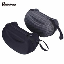 Mesh Zipper Glasses Bag Eyewear Case Box For Winter Ski Motocycle Cycling Goggle Shell Protector Hard Box Outdoors Sports