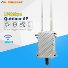 COMFAST high power omni directional wireless AP outdoor WiFi coverage base station 300Mbps wireless router with 2*8dBi antenna