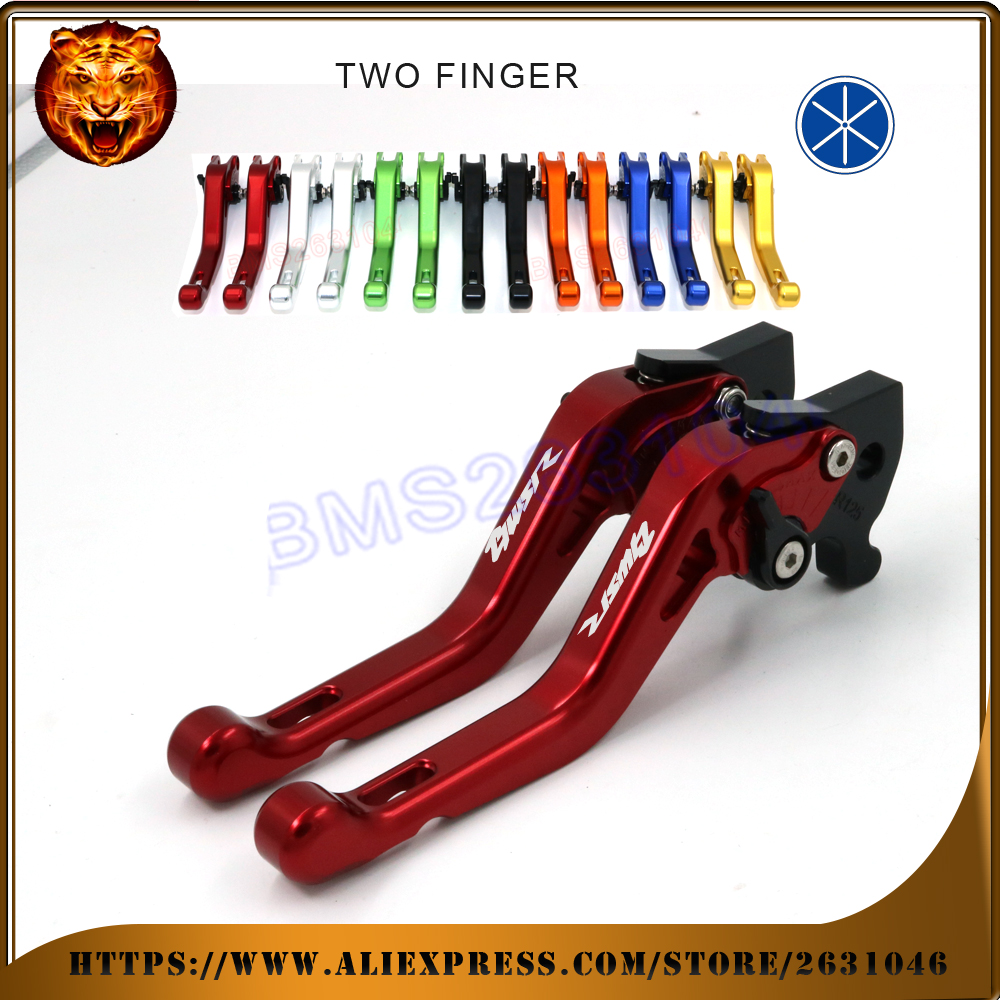For YAMAHA BWSR125 BWS BWSR BWS-R 125 R125 2017  RED BLUE NEW STYLE BLUE LOGO  Motorcycle Adjustable Short Brake Clutch Levers <br><br>Aliexpress
