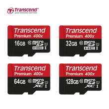 Transcend Micro SD Card 128GB/64GB/32GB/16GB Class10 Memory Card Flash Memory Cartao Micro SDHC XC 400X for Phone/Tablet/Camera