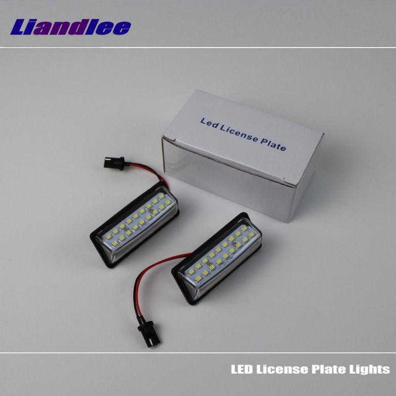Liandlee For Nissan Sentra / Versa Note 2014~2016 / LED Car License Plate Light / Number Frame Lamp / High Quality LED Lights<br>