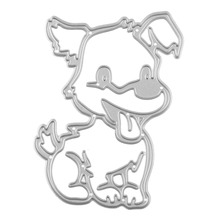 Cute Dog Doggy Metal Cutting Dies Love Pet Dies For Scrapbooking Paper Craft Embossing Stencils Cutter(China)