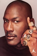 1998 Michael Jordan 6 finals rings  basketball poster Waterproof Canvas Fabric art Wall Decor 12x18 inch Custom print