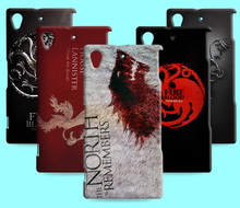Ice and Fire Cover Relief Shell For SONY Xperia Z L36h Cool Game of Thrones Phone Cases For Xperia Z1 L39H