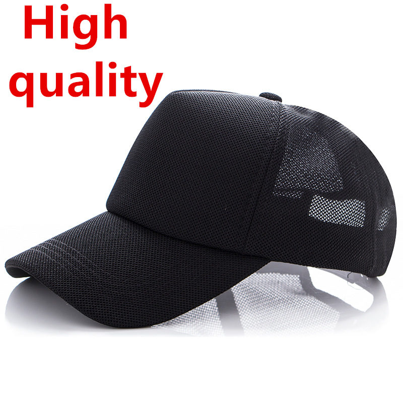 NEW PLAIN NETTED SNAPBACK FITTED MESH CLASSIC TRUCKER BASEBALL CAP FLAT PEAK HAT