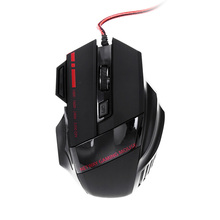 USB Wired Pro Gamer Gaming Mouse Mice Max 3200 DPI 7 Buttons LED Optical Mouse Mice Gaming with Breathing Lights Triple Fire Key(China)