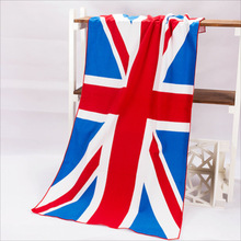 70*140cm Hot Sale Absorbent Microfiber Euro Bath American British flag Beach Towel Drying Washcloth Swimwear Shower  For Gift