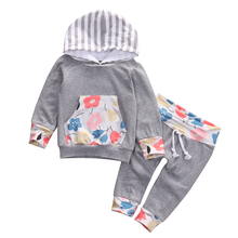 Buy 2016 New Casual Baby Girl Clothes 2PCS Autumn Clothing Set Floral Hooded Top Pant Outfits Newborn Bebek Giyim 0-24M for $5.94 in AliExpress store