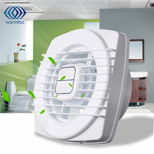 4 inch White Mini Exhaust Fan Ventilation Blower Window Wall Kitchen Bathroom Toilet Fan Hole Size 105x105mm 220V 12W  US Plug