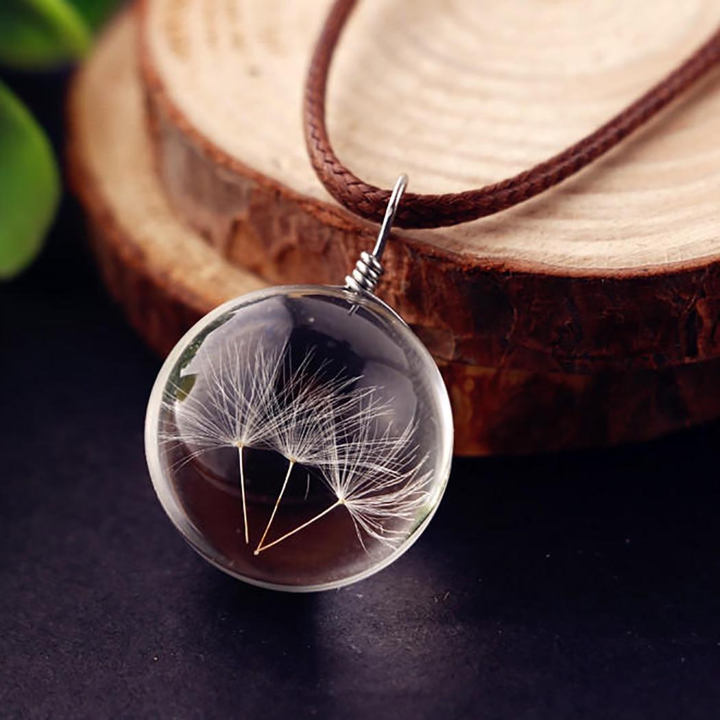 Preserved Dandelion Pendant 28mm Dandelion Pendant Dandelion Glass Pendant Dried Dandelion Pendant Dandelion Charm 0846