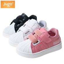 Children Shoes Girls Vulcanized Shoes Kids Casual Sneakers Boys Autumn Outdoor Comfortable White PU Soft Sole Toddler Kids Shoes