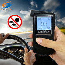 Factory Outlets +10 mouthpiece Prefessional Digital LCD Alcohol Tester Alcohol Breath Analyzer Police Digital Breathalyzer(China)