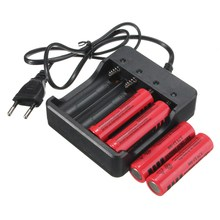 NEW US EU plug 4 Slots Intelligent Battery Charger with short circuit protection For 4X 18650 lithium-ion rechargeable battery