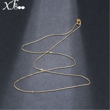 18 inch XF800 Pure 18K Yellow Gold necklace Chain AU750 Gold fine jewelry for wedding G02(China)