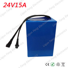 24V 15AH Battery Pack Lithium 24V 350W Ebike li-ion 24V 15AH lithium Electric Bike Battery 24V 350W Motor and 2A Charger(China)