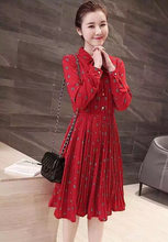 2016 New Style dresses women's fashion quality red dress office lady casual spring nice slim clothing black size XXL L XL #010