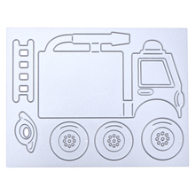 Fire Truck Stitching Metal Cutting Dies Stencils for DIY Scrapbooking Die Cuts Photo Album Decorative Embossing Craft Metal Dies(China)