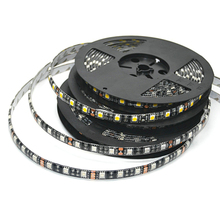 LED Strip 5050 RGB Black PCB DC12V Flexible LED Light 60 LED/m5050 LED Strip RGB/White/Warm White/Blue/Green/Red(China)