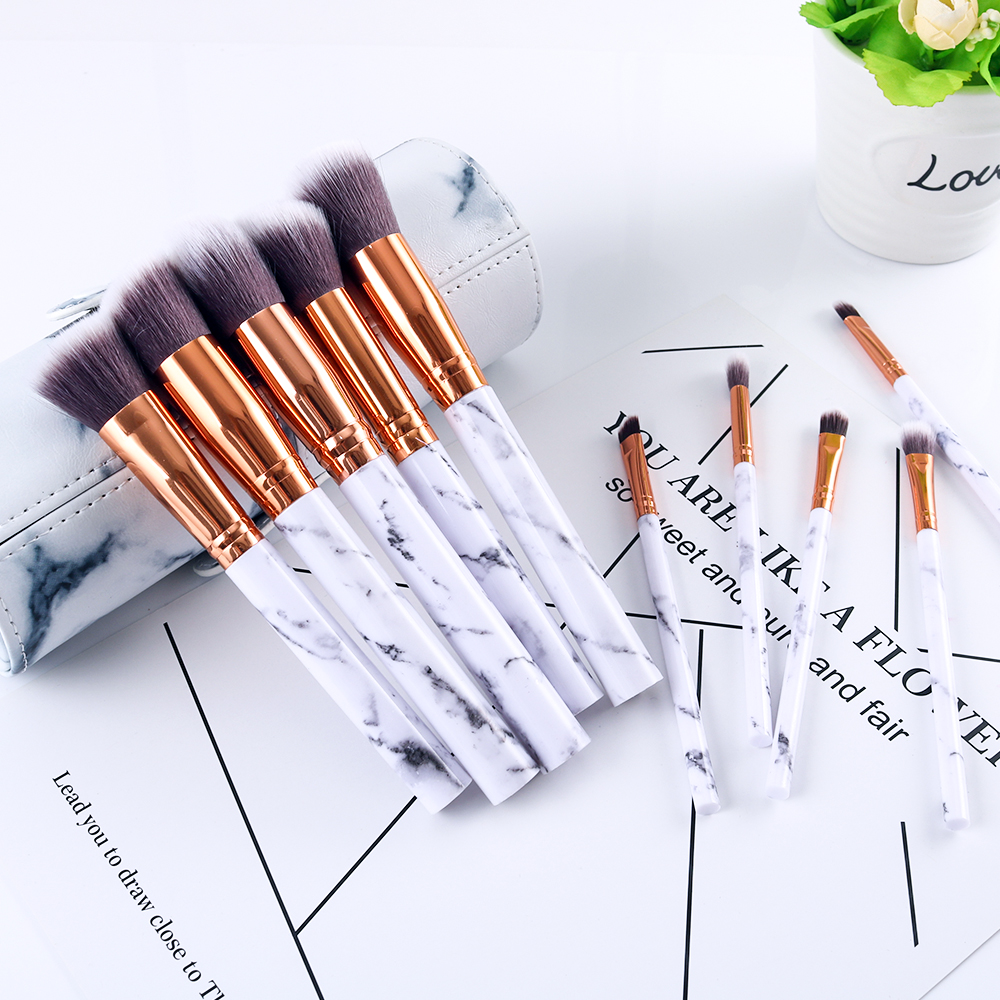 Marble makeup brushes  (8)