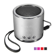 Z12 Blue Portable Cylinder Mini Speaker Amplifier FM Music Sound Radio HIFI Support USB Micro Line-in For SD TF Card MP3 Player