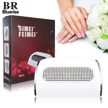 BLUERISE New Nail suction Dust Collector Machine Vacuum Cleaner With 3 Fans + 2 Bags Manicure Filing Acrylic Powerful Dust Tools