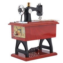 1Pc Mini Vintage Lockwork Sewing Machine Music Box Kid Toy Treadle Sartorius Toys Retro Birthday Gift Home Decor Worldwide Store