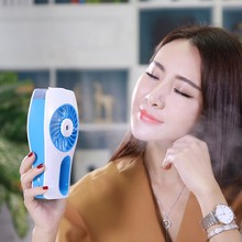 USB Portable Rechargeable Humidifier Mini Fan Cooling Mist Maker Hand Fan Air Conditioner low noise for Office Home travel used(China)
