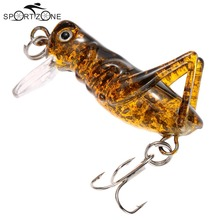 4cm 3g Fishing Lure Worm Baits Fishing Tackle Artificial Simulation Cricket Soft Fishing Lures Tiny Locust Cricket Lure