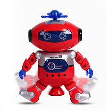 Intelligent Robot 360 Rotating Space Dancing Robot Musical Walk Lighten Electronic Robot Multicolor Christmas Birthday Gift Toys