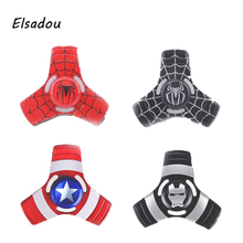 Buy Elsadou Fidget Toy Triangular Captain America Iron Man Spider Man Hand Spinner Avengers Metal Finger Stress Spinner for $2.99 in AliExpress store