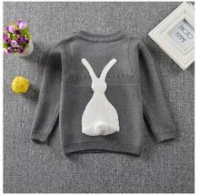 2017 New Girls Sweater Autumn Winter Casual Knit Rabbit Kids Babies Boys Sweaters Clothing Children Clothes Girls Outwear