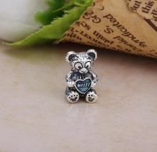 2017 Spring 100% 925 Sterling Silver Girl Teddy Bear Charm Fit Original Hot Bead Bracelet  Authentic European Style jewelry