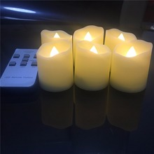 Timer And Remote,Pack of 6 Warm White Electric Candles With Remote,10 Days Long Lasting Flickering Candles With 6 hours Timer(China)