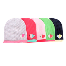 Lovely Pattern Spring/Fall Girls Kids Baby Soft Cotton Birds/Dots Candy Color Beanie Hats Caps