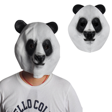 Panda head mask halloween day  mask latex giant panda wigs mask animal cosplay wigs mask