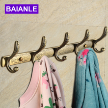Bathroom Robe Hooks Wall Mount Three/Four/Five Screw Zinc Alloy Towel Hook Holder Bathroom Accessories Clothes Coat Hooks(China)