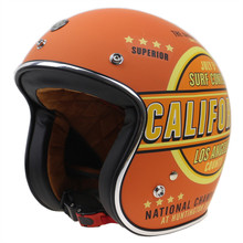 New Arrival Retro Style Old Bike motorcycle helmet Open face helmet with goggle straps and visor DOT approved bike helmet(China)