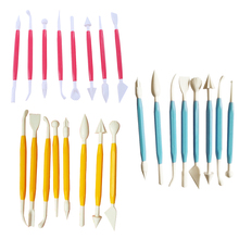 8Pcs 16 Patterns Plasticine Polymer Clay Modelling Tools Flower Molds Playdough Tools Clay Tools Polyform Sculpey Tools Set(China)