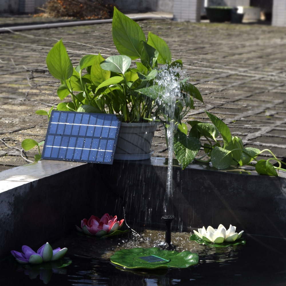 Solar-Powered Water Pump Silicon Mini Solar Water Pump Power Panel Kit Fountain Pool Garden Pond Submersible Watering(China)