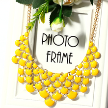 Fashion Yellow Green Black White Oil Jewelry Wedding Party Statement Necklace For Women Short Design Chokers Necklace