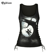 Qybian 2017 Summer womens tank top 3D Printing Fitness tshirts ladies top sleeveless slim vest Sexy Fashion women tops(China)